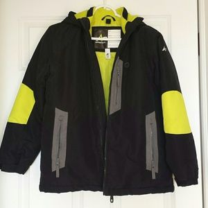 Boys hooded winter snow jacket
